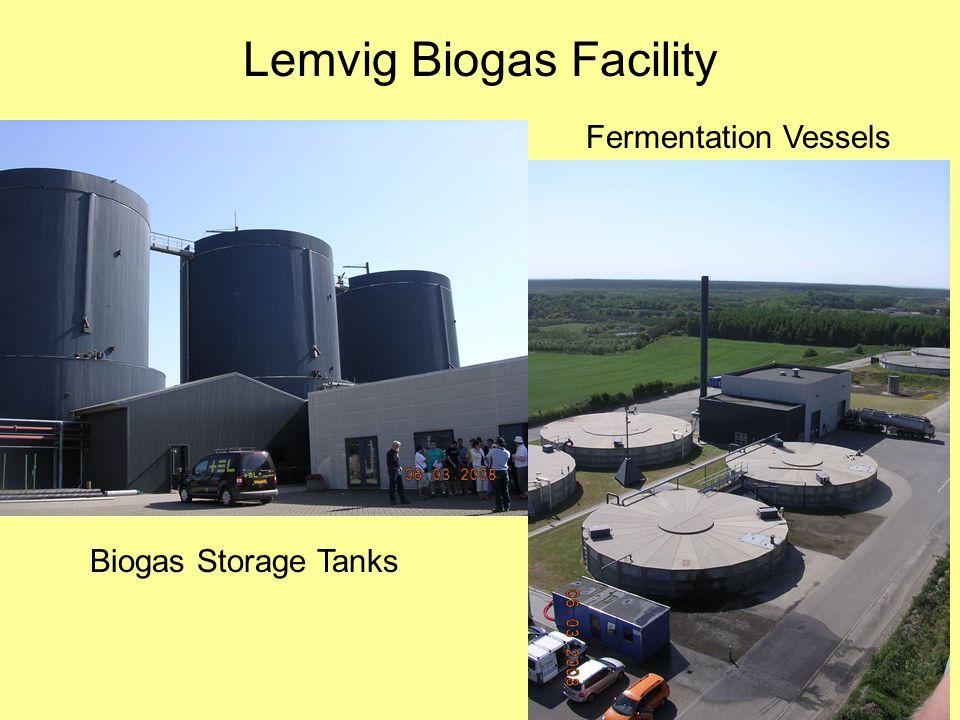 Lemvig Biogas Facility Fermentation Vessels Biogas Storage Tanks