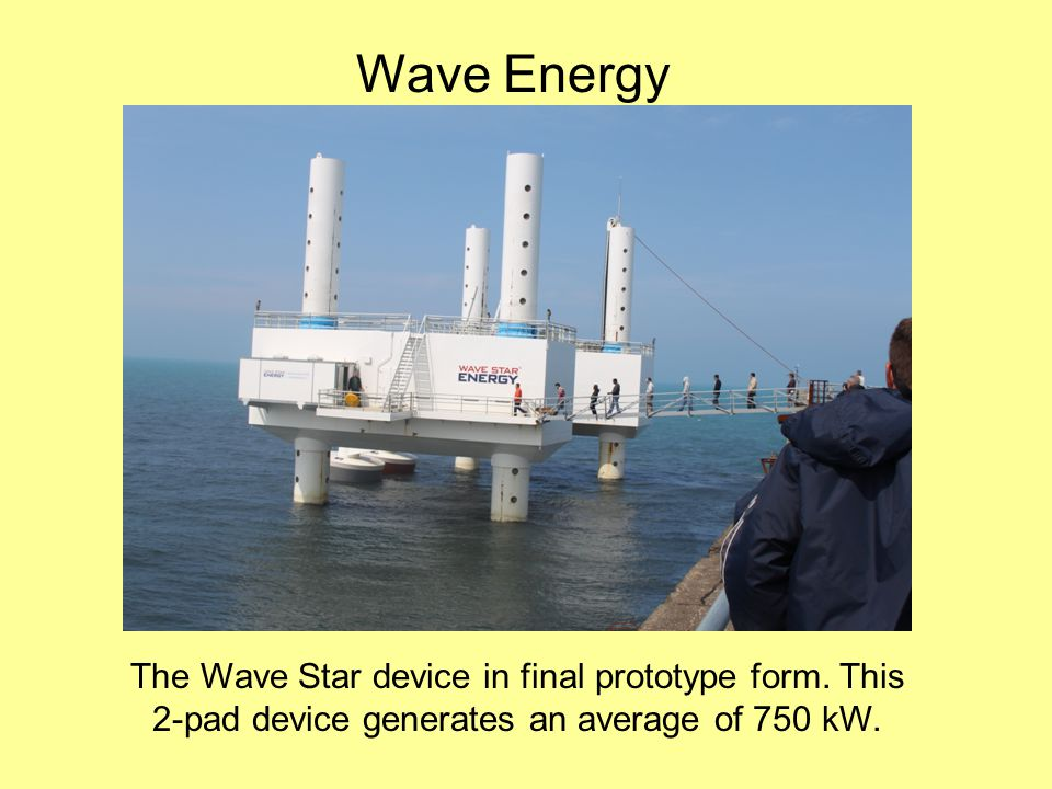 Wave Energy The Wave Star device in final prototype form.