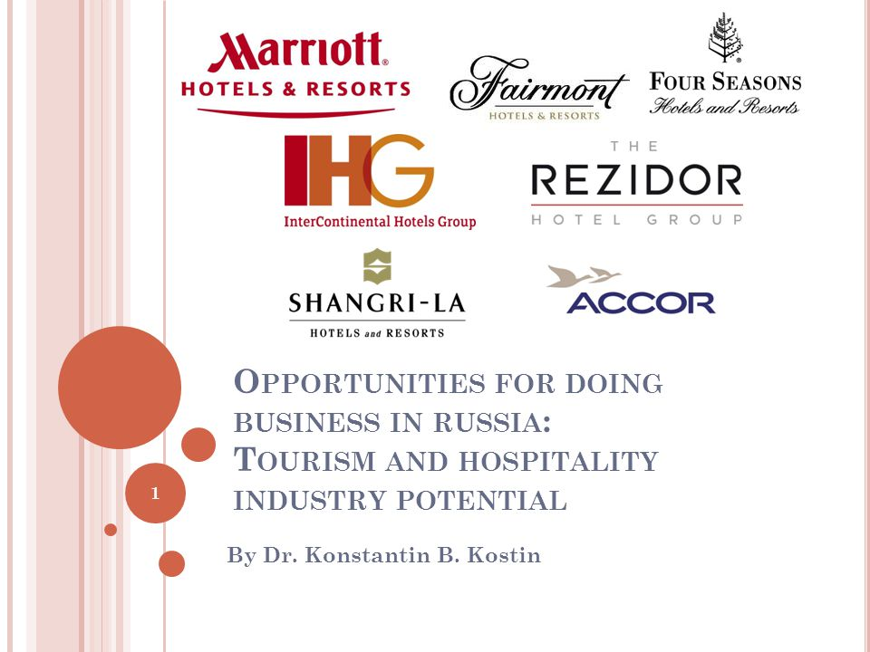 O PPORTUNITIES FOR DOING BUSINESS IN RUSSIA : T OURISM AND HOSPITALITY INDUSTRY POTENTIAL By Dr.