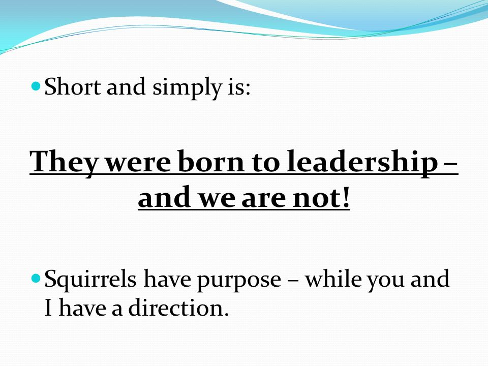 First lesson - Leadership without purpose is like a compass in the hands of a fool – any direction will do.