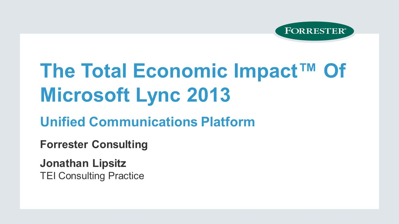 © 2014 Forrester Research, Inc.
