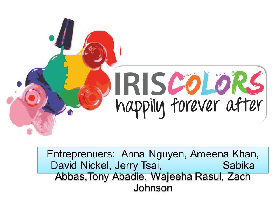 Entreprenuers: Anna Nguyen, Ameena Khan, David Nickel, Jerry Tsai, Sabika Abbas,Tony Abadie, Wajeeha Rasul, Zach Johnson