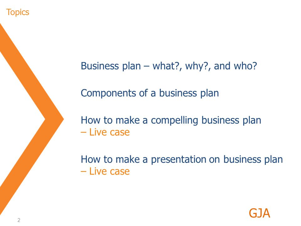 2 Index Business plan – what , why , and who.
