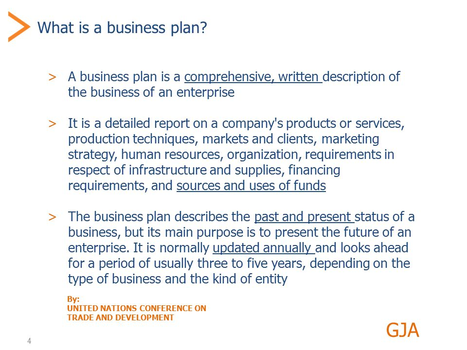 5 Why a business plan.