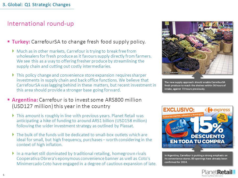 5  Turkey: CarrefourSA to change fresh food supply policy.