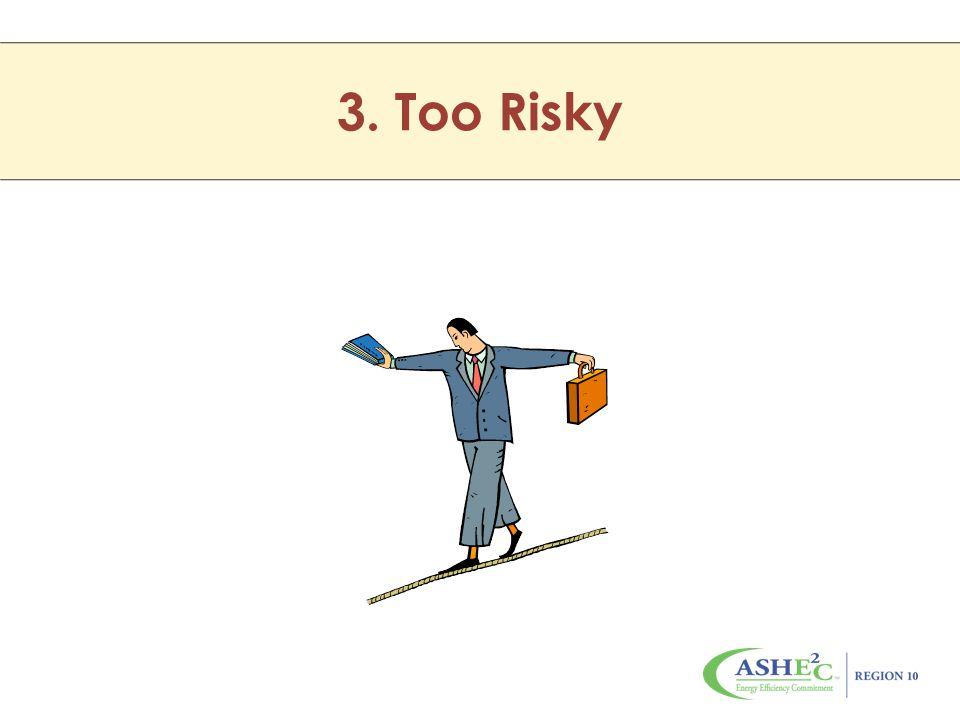 3. Too Risky