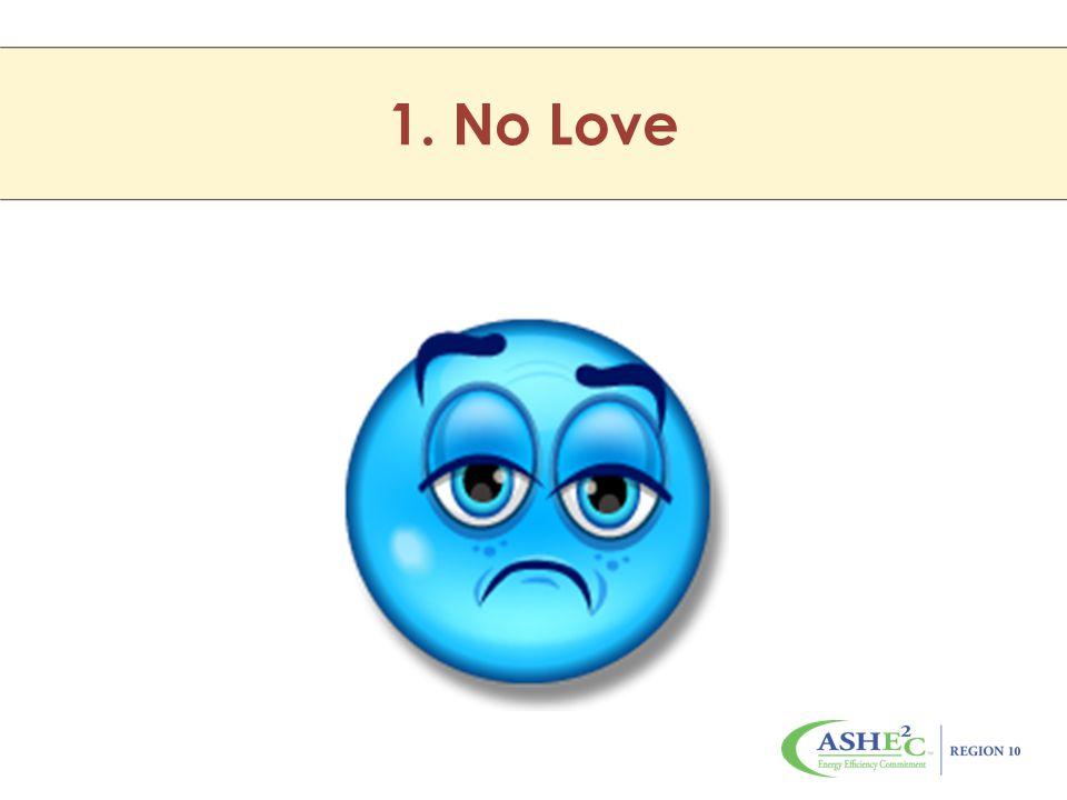 1. No Love