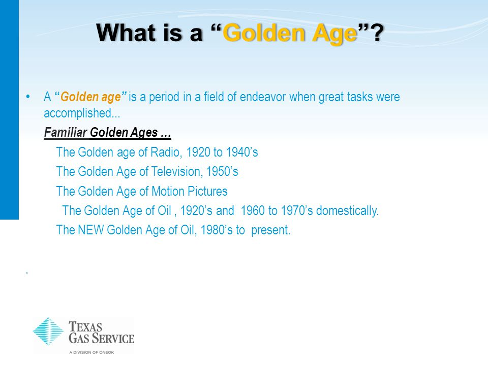 """What is a """"Golden Age""""?What is a """"Golden Age""""? A """" Golden age"""" is a period in a field of endeavor when great tasks were accomplished... Familiar Golde"""