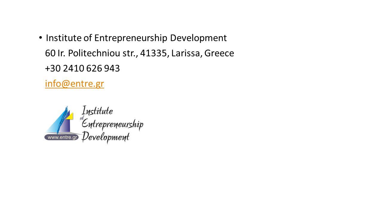 Institute of Entrepreneurship Development 60 Ir.