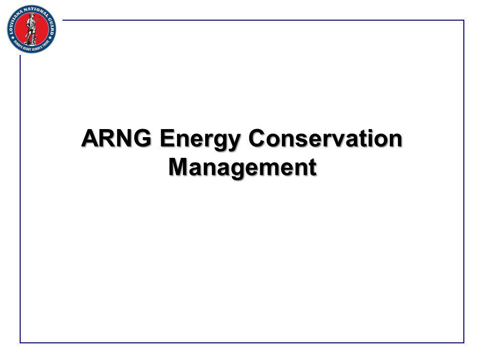 ARNG Energy Conservation Management