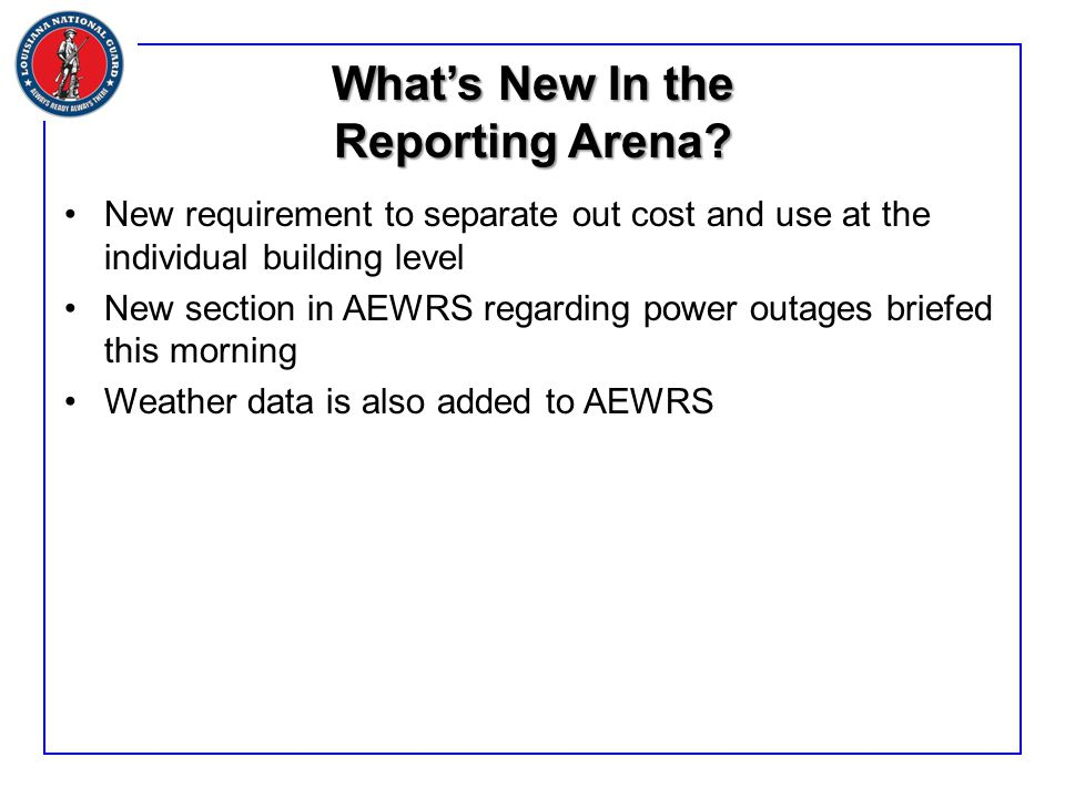 What's New In the Reporting Arena.