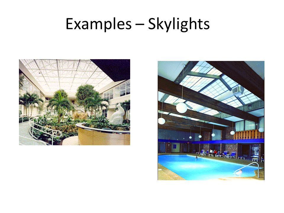 Examples – Skylights