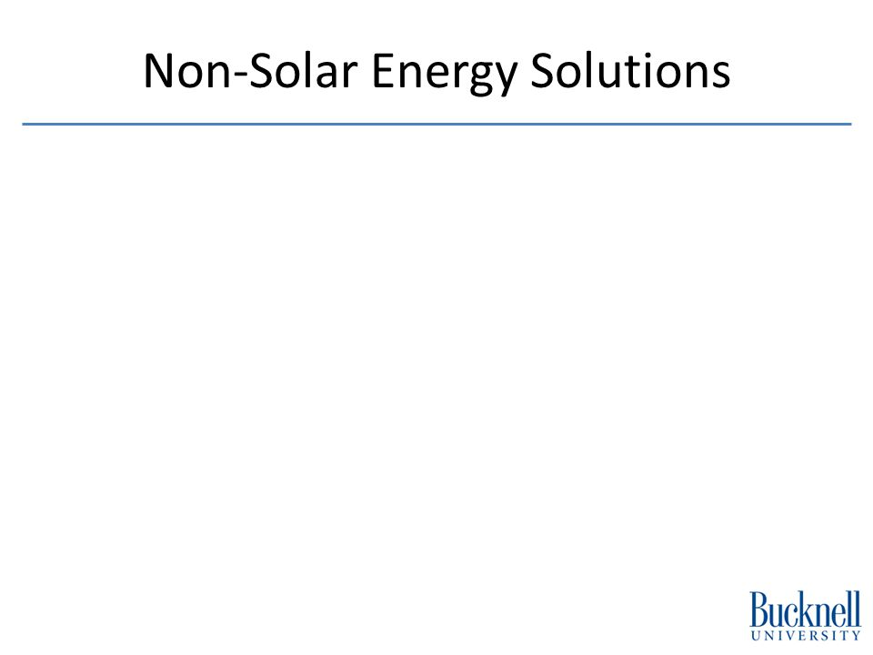 Non-Solar Energy Solutions