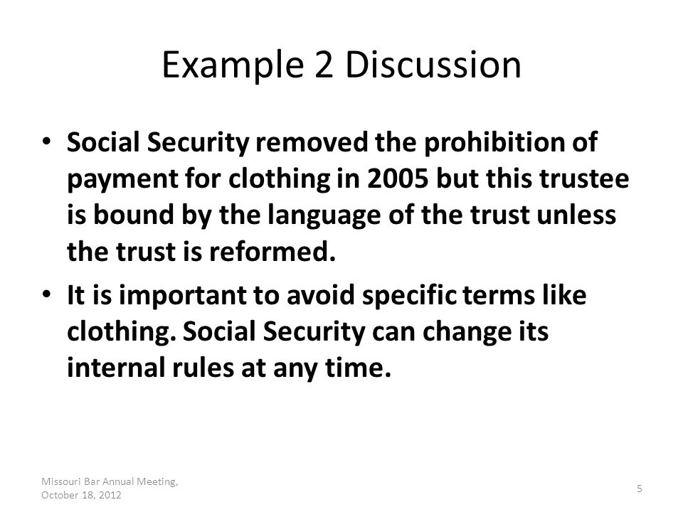 Example 3 Text In this trust, the following facts apply: – The Grantor is the Trust Beneficiary.
