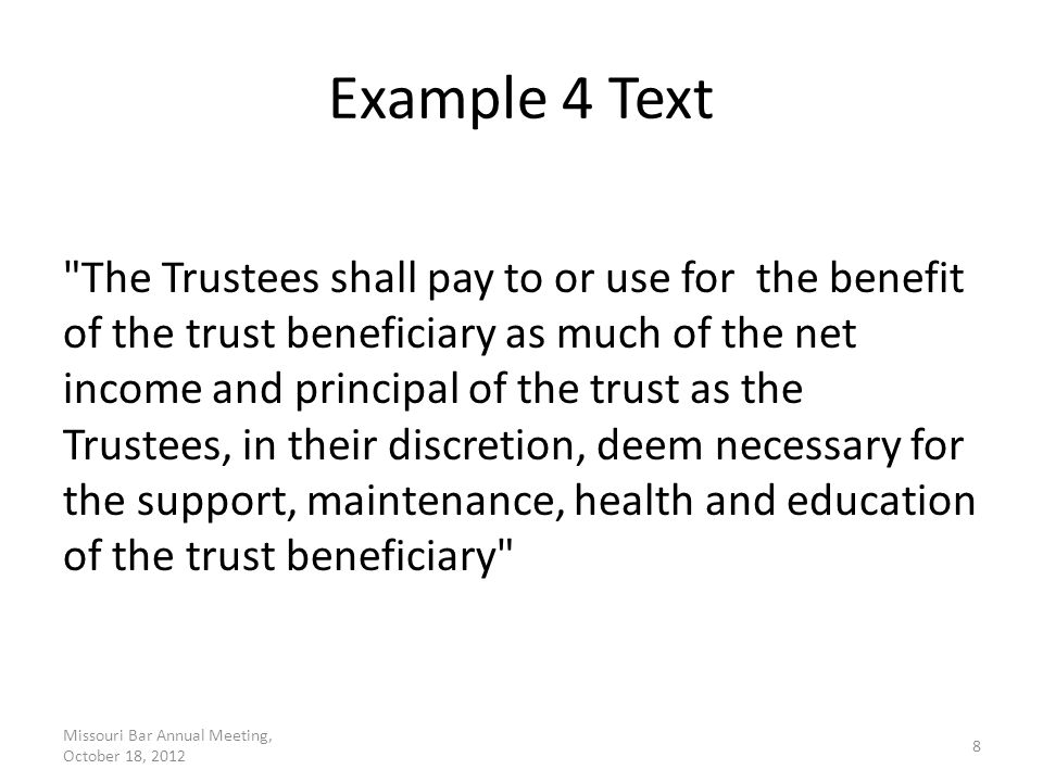Example 4 Discussion HEMS language is support language which can be construed to supplant public benefits.