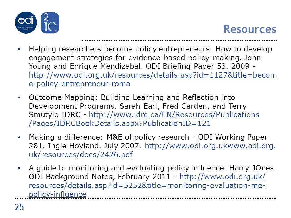 25 Resources Helping researchers become policy entrepreneurs.
