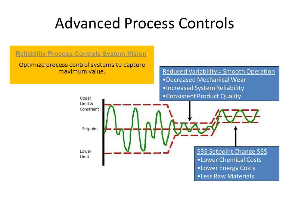 Advanced Process Controls Reliability Process Controls System Vision : Optimize process control systems to capture maximum value.
