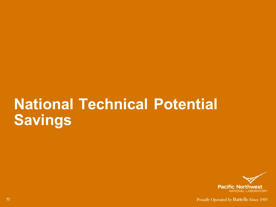 National Technical Potential Savings 12