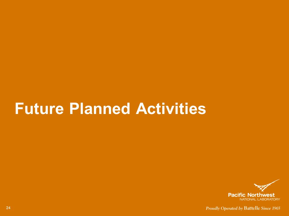 Future Planned Activities 24