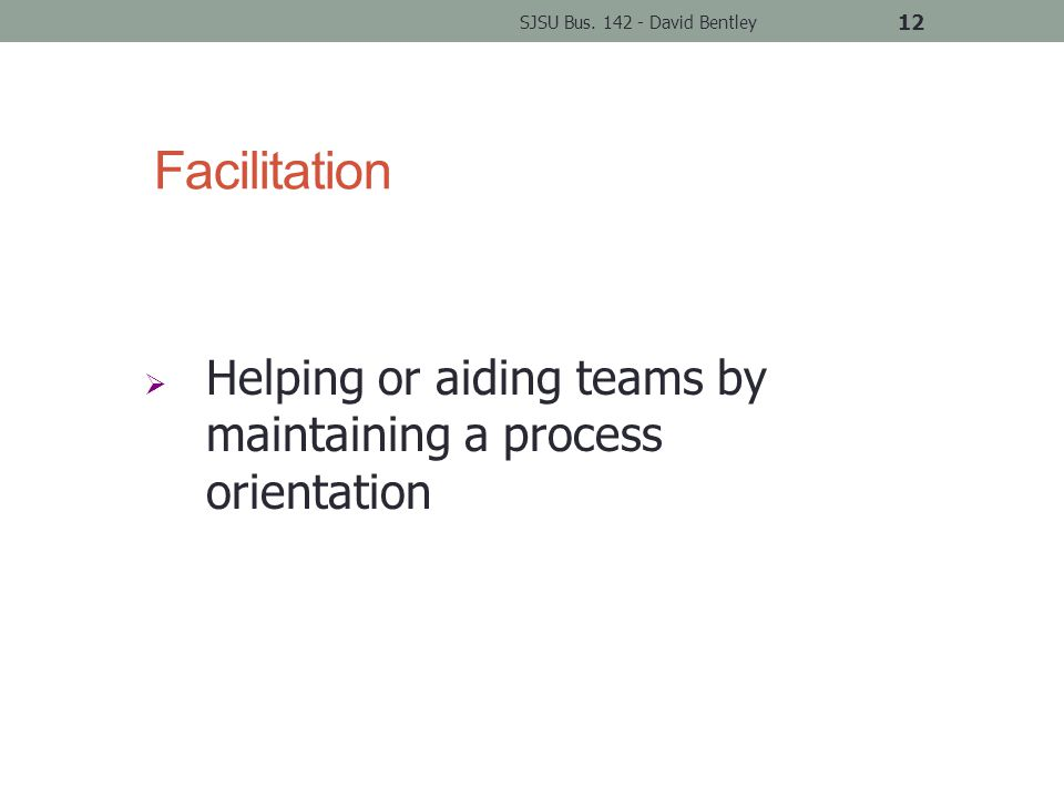 Facilitation SJSU Bus.