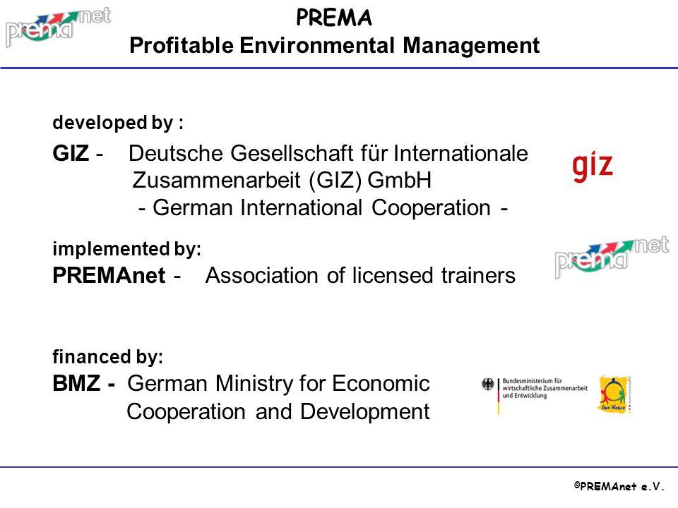 © PREMAnet e.V. developed by : GIZ - Deutsche Gesellschaft für Internationale Zusammenarbeit (GIZ) GmbH - German International Cooperation - PREMA Pro