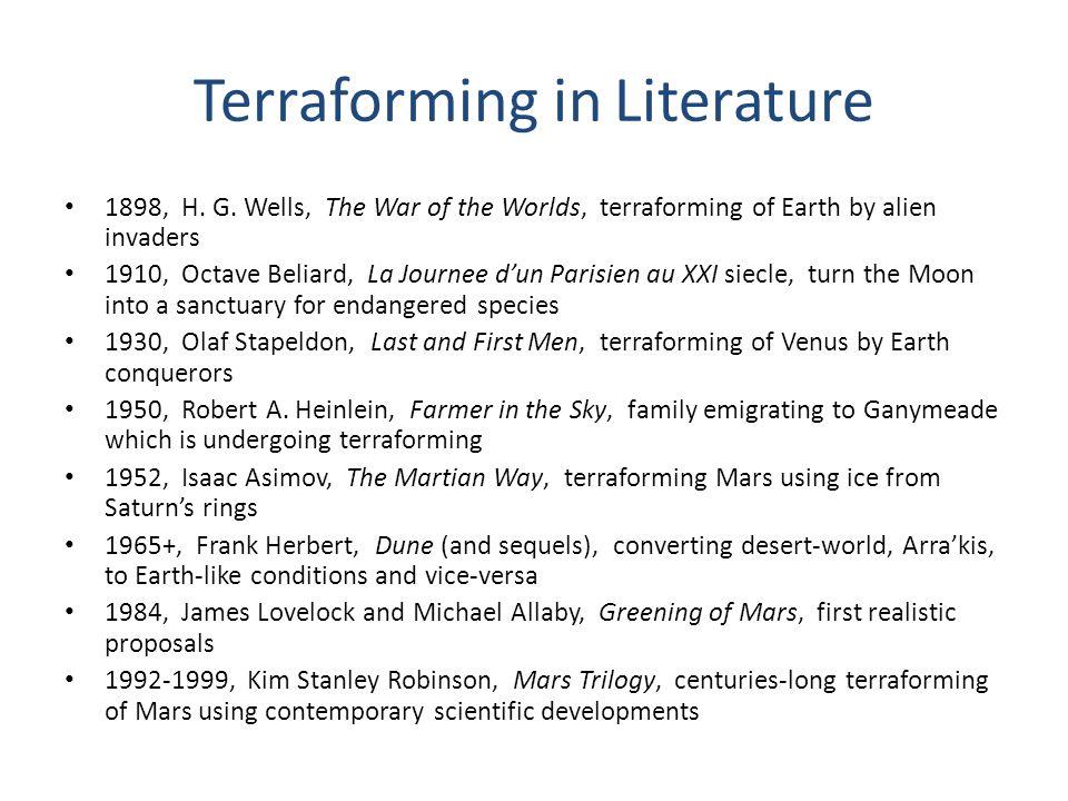 Terraforming in Literature 1898, H. G.