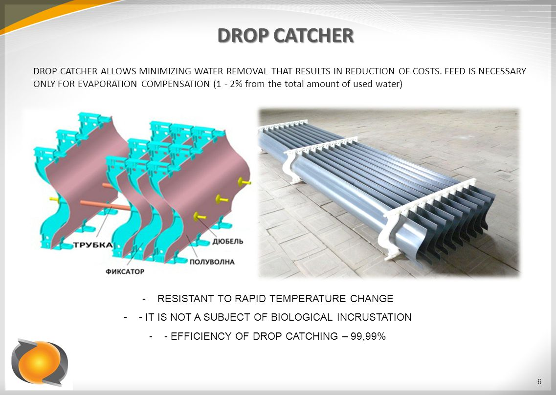 DROP CATCHER DROP CATCHER ALLOWS MINIMIZING WATER REMOVAL THAT RESULTS IN REDUCTION OF COSTS.