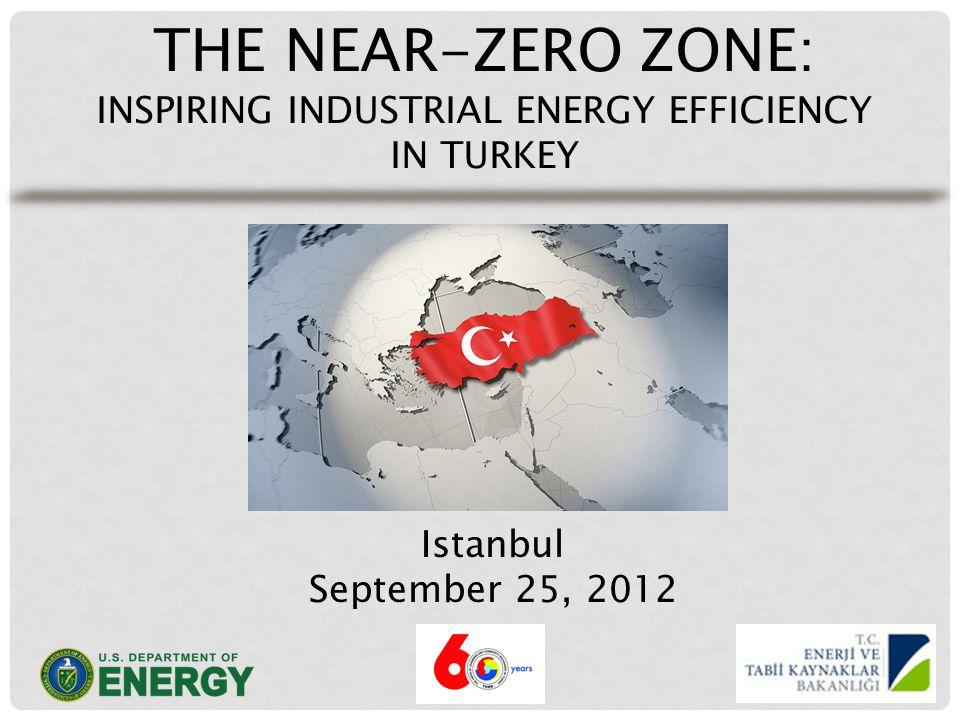 THE NEAR-ZERO ZONE: INSPIRING INDUSTRIAL ENERGY EFFICIENCY IN TURKEY Istanbul September 25, 2012