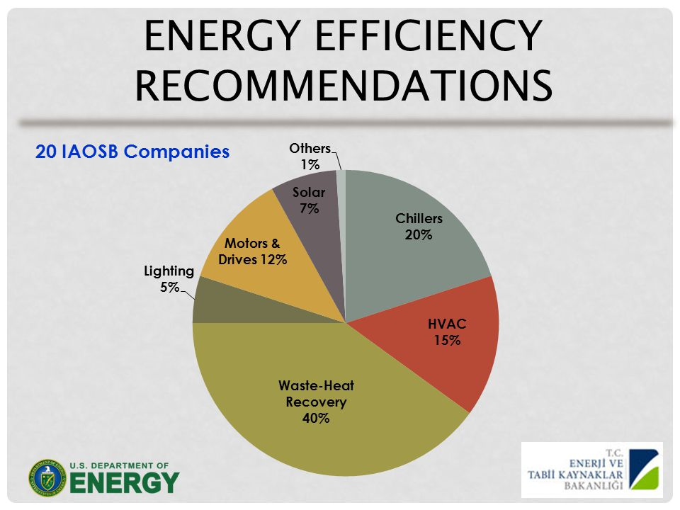 ENERGY EFFICIENCY RECOMMENDATIONS 20 IAOSB Companies