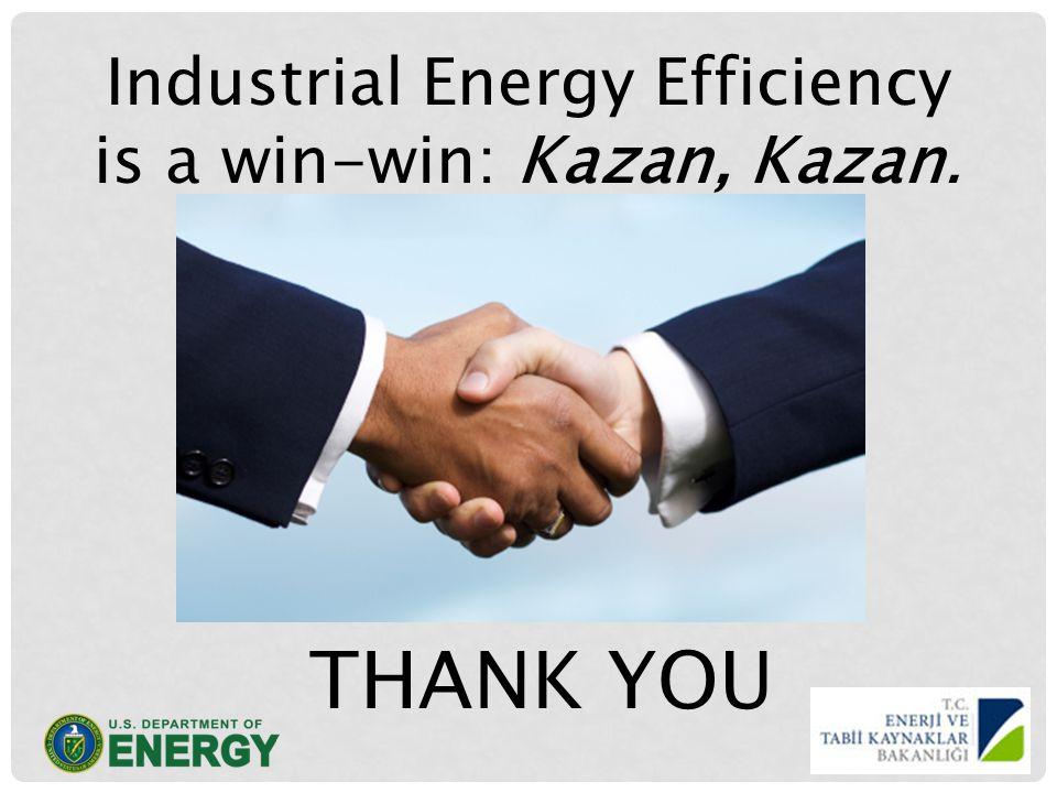 Industrial Energy Efficiency is a win-win: Kazan, Kazan. THANK YOU
