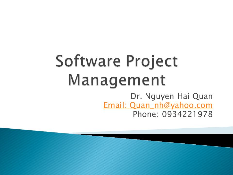 Dr. Nguyen Hai Quan Email: Quan_nh@yahoo.com Phone: 0934221978