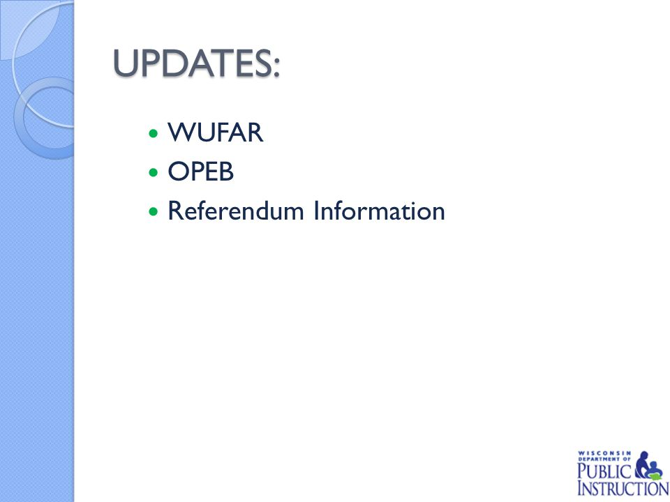 UPDATES: WUFAR OPEB Referendum Information