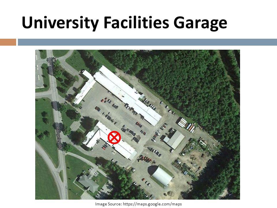 University Facilities Garage Image Source: https://maps.google.com/maps