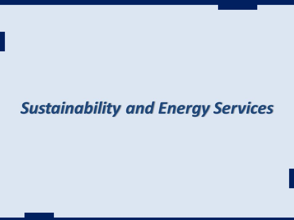 Sustainability and Energy ServicesSustainability and Energy Services