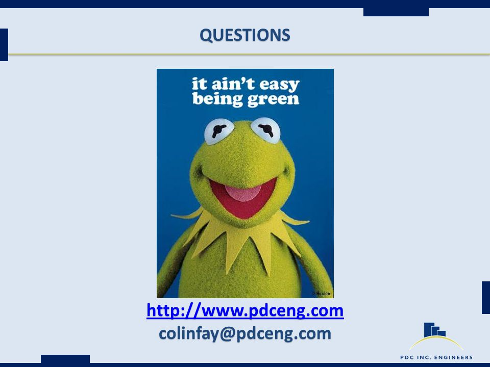 QUESTIONS http://www.pdceng.com colinfay@pdceng.com