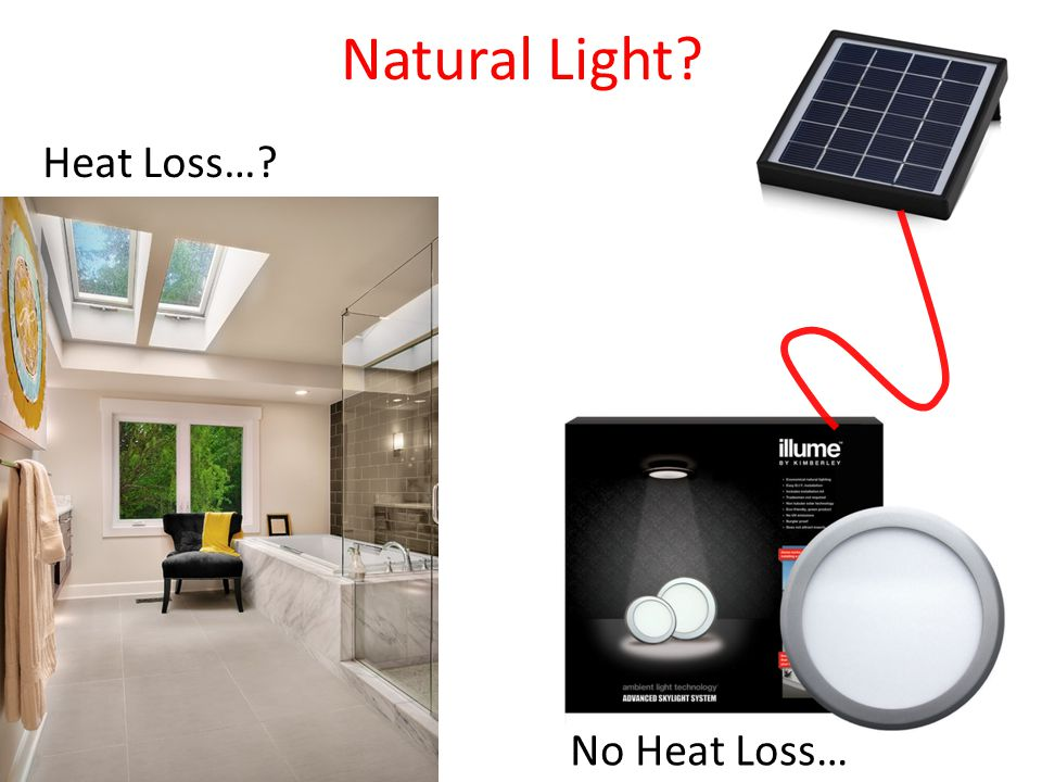 Natural Light Heat Loss… No Heat Loss…