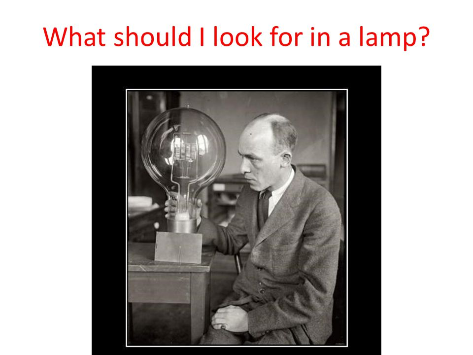 What should I look for in a lamp