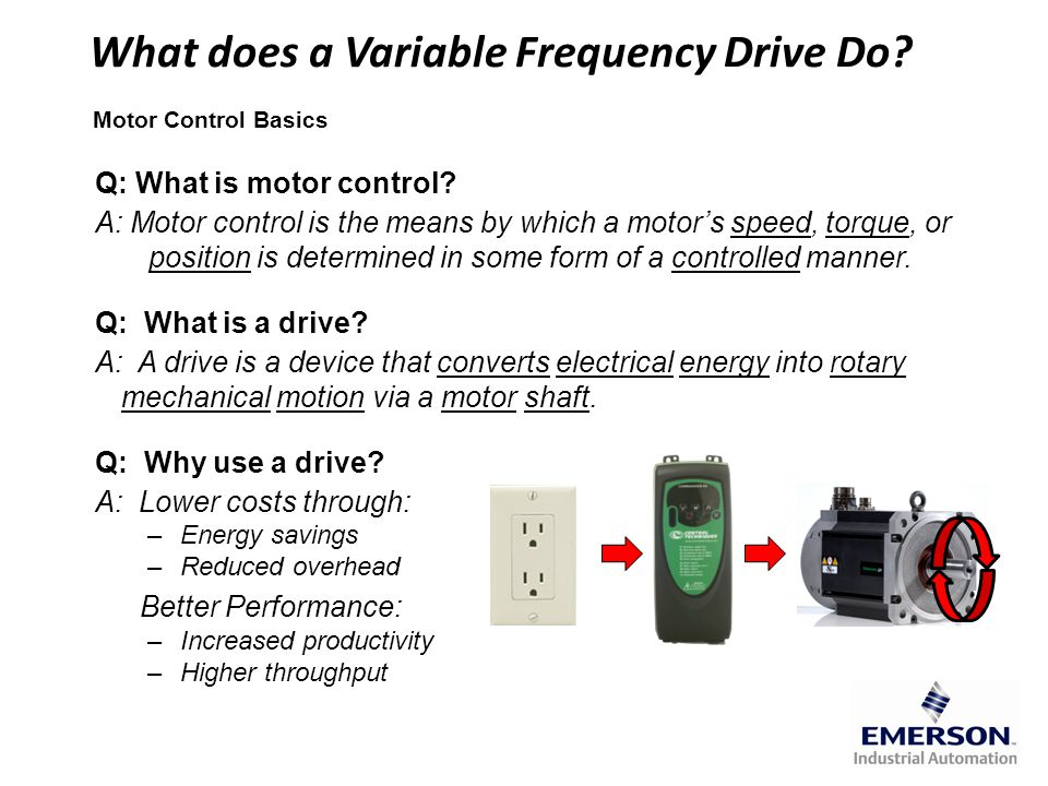 What does a Variable Frequency Drive Do What does a Variable Frequency Drive Do.