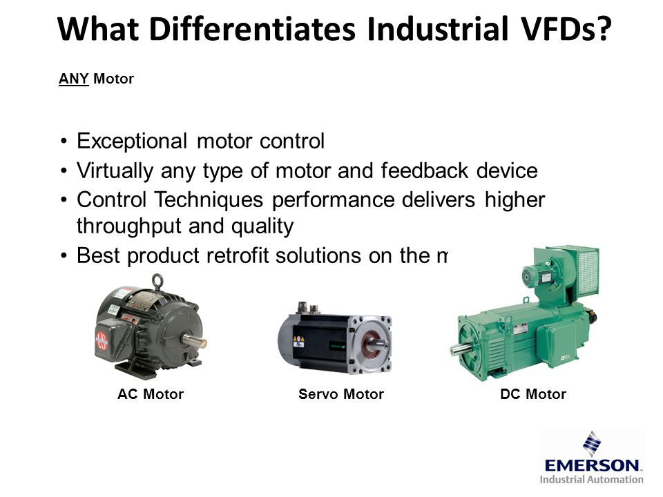 VFDs and Pumps Provide significant energy savings when: – Pumps are operated at lower flow rates – Existing system has bypass control – System has low static head – Local electricity costs are high – Pump has steep design curve