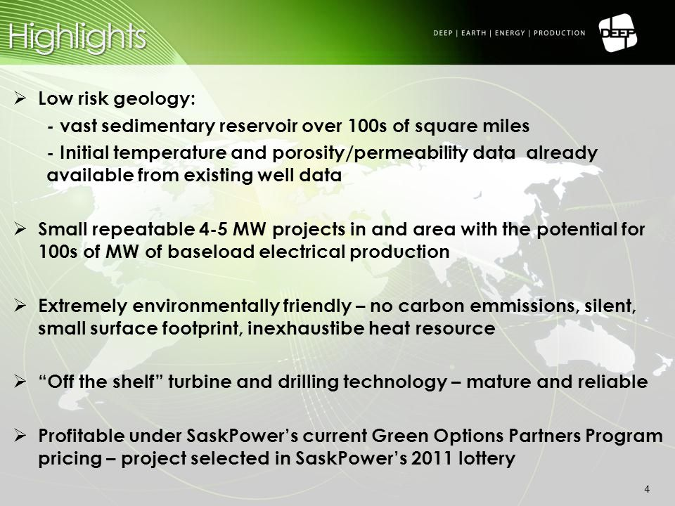 Positive Resource Report 15  Net power production of ~1.25 MW/well  5 MW field design  Scalable and repeatable over many fields Capital Costs for 5 MW Field: Exploration/Well Re-Entry Program: $1.0 million Production Drilling Cost: $8.4 million Binary Turbine Power Facility: 5.0MW @ 1.8million/MW = $9.0 million Piping & Fluid transport 5.0 MW @ $0.3 million/MW = $1.5 million Generic Costs: Project Management: ~10% of above total = $2.0 Million Power House/Building = ~$400,000  Total Capital Costs: $22.3 Million  Installed Capital Costs / MW = ~$4.5 Million
