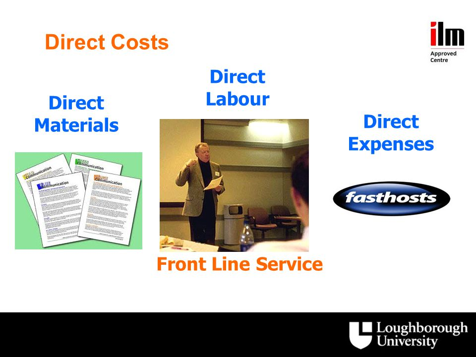 Direct Costs CostCodeCost CategoryDescription Direct Costs: These costs are normally directly attributable to the manufacture of the product, or the provision of the front line service.