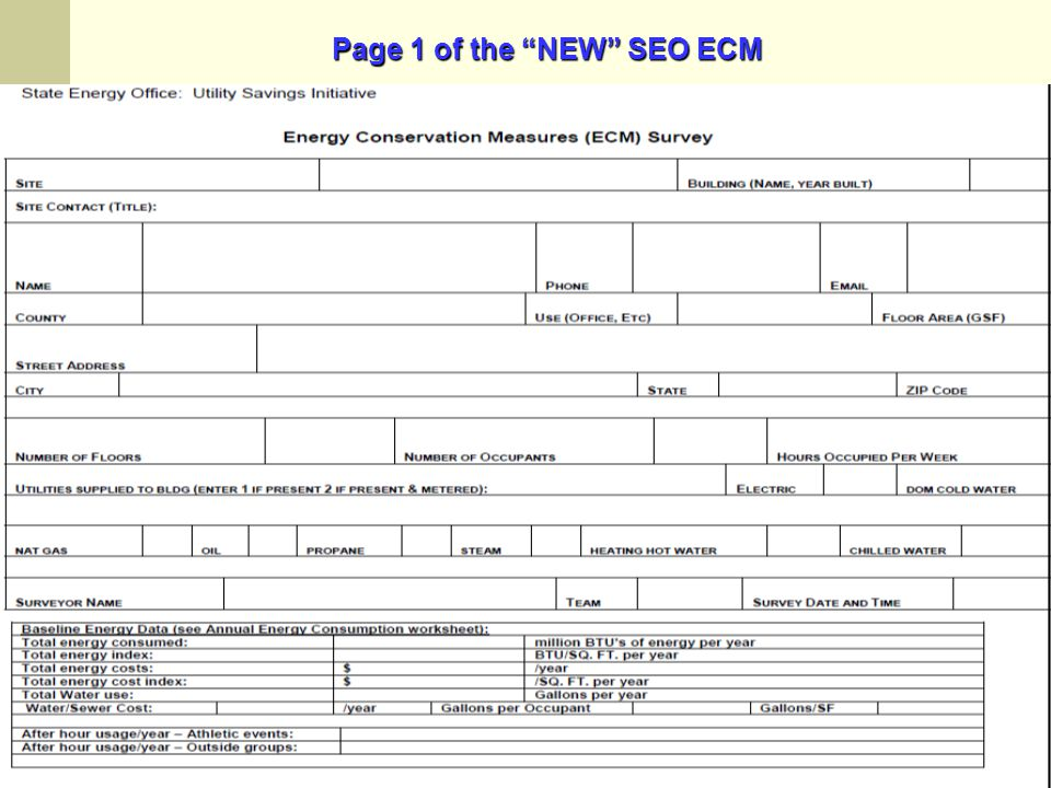 Page 1 of the NEW SEO ECM