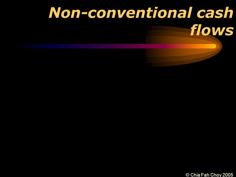 © Chia Fah Choy 2005 Non-conventional cash flows