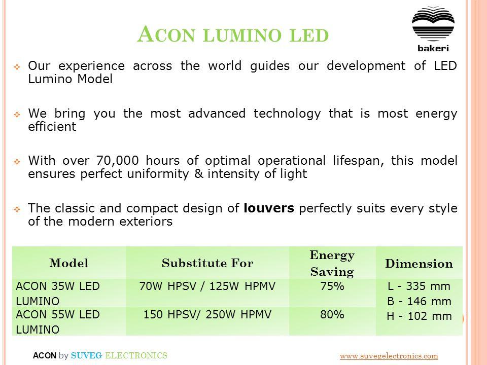 L IMITATIONS OF T 5 & LED STREET LIGHTS