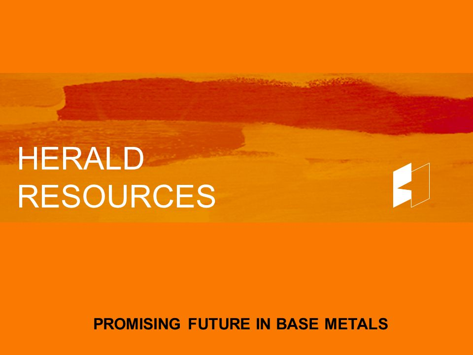 HERALD RESOURCES KEY INFORMATION MAY 2004 Issued capital-shares 62.5M -options 0.5M Market capitalisation: A$45M Major shareholders: Management 26% ANZ Nominees 22% ANZ Nominees 22% National Nominees 10% Macquarie Bank Ltd 4% Cash $3.5M Unused Credit Lines $3.0M