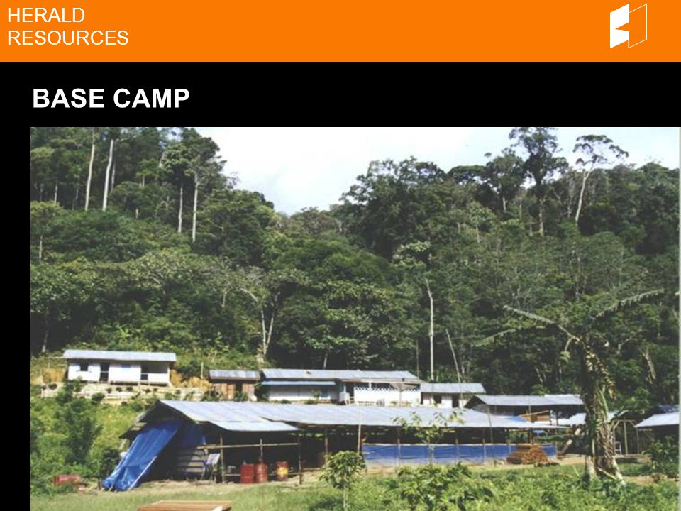 HERALD RESOURCES DAIRI PROJECT RESERVES & RESOURCESZoneCategoryTonnesZnLeadSilverReserves Anjing Hitam Probable6.3mt16%10% Resources Lae Jehe Inferred8.2mt7.7%4.1%6g/t BasecampInferred0.8mt7.2%4.3%5g/t