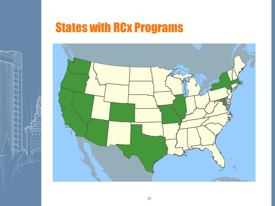 28 States with RCx Programs