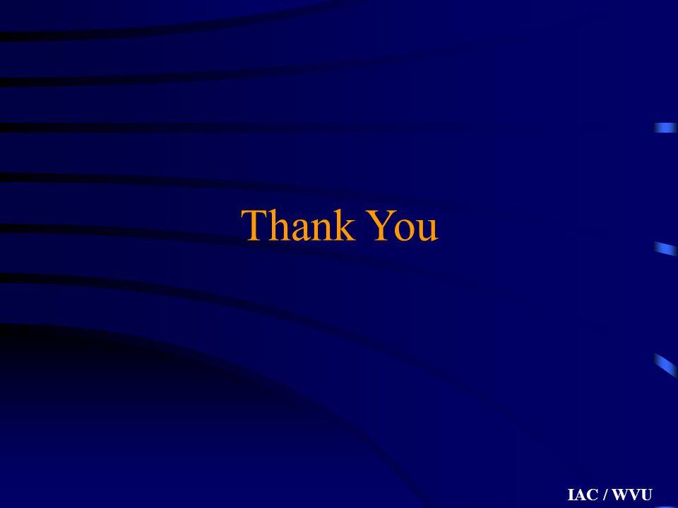 IAC / WVU Thank You