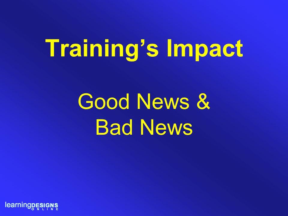 Training's Impact Good News & Bad News
