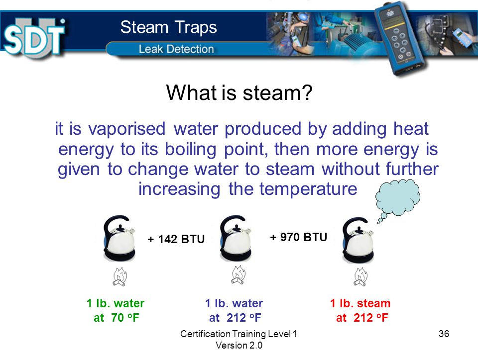 Steam Traps and Ultrasound Certification Training Level 1 Version 2.0 35